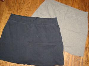Lot womens skorts large Liz Wear Claiborne pull on elastic waists blue gray