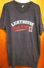 TOLEDO MUD HENS lrg T shirt Ohio baseball 2012 tee Lighthouse Bar & Grill