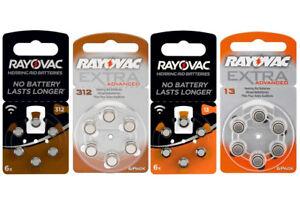Rayovac Hörgerätebatterien Knopfzelle AU ZL DA 13 312 13A 13AE V312A DA312 312A
