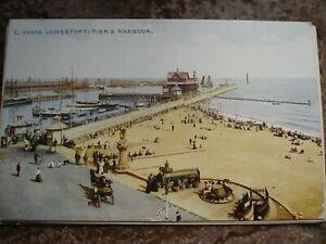 vintage postcards 1911 Lowestoft used