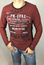 Fancy Private Member Maroon with black and white design long sleeved crew neck