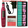 1 Set Electric Nail Drill Machine Manicure Pedicure Portable Nail Buffer Files