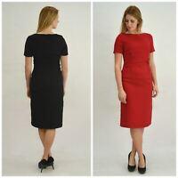 LINEA at Dickens & Jones Black or Red Crepe Twist Waist Dress   SALE   Was £79