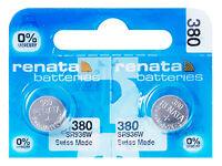 2 x Renata 380 Pila Batteria Orologio Mercury Free Silver Oxide SR936W 1.55V