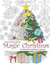 Magic Christmas Adult Colouring Book Tree Gift Presents Decorations Festive Joy