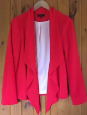 Stunning Red Waterfall Front Jacket/Ladies/New Look/Size 12/Blazer Shape/Dressy