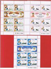 Grenadines #209-214   MNH OG  Sheets  of 7  Charles & Diana   Free S/H
