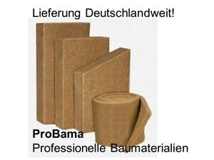 Thermo Hanf Jute Dämmplatte 40mm/m² Hanffaser Jutefaser Innendämmung Klemmfilz