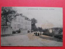 AUZANCES  :  Avenue de la Gare  -  Le Château.........VO.1915.