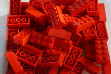 LEGO 70 x RED BRICKS 2 x 4 No 3001 ( CITY,  FRIENDS, MOVIE)