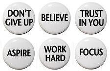 "6 Inspiring / Motivational Fridge Magnets (1""/25mm) - Made in UK- GIFT & KITCHEN"