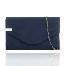 9784398c7 New Navy Suede Wedding Ladies Party Prom Evening Clutch Hand Bag Purse  HandBag