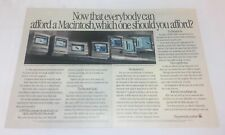 1990 two page APPLE MACINTOSH IIsi computer ad ~ Now That Everybody...