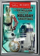 2 Boxes Hallmark Holiday Greeting Cards Star Wars 32 total C-3PO  R2-D2  BB-8