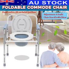 Elderly Pregnant Foldable Adjustable Shower Toilet Bedside Commode Chair Potty