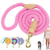 Fashion Braided Pet Dog Walking Leash Soft Cotton Rope for Small Large Dogs 5ft