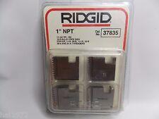 "RIDGID 37835 1"" NPT 12-R PIPE THREADING DIES O-R 11-R 111-R 30-A 31-A 00-R"
