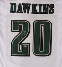 PHILADELPHIA EAGLES BRIAN DAWKINS AUTOGRAPHED SIGNED WHITE JERSEY BECKETT 158315