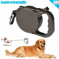 8m/26ft Dog Collar Leash Automatic Retractable Puppy Patrol Rope Walking Leads