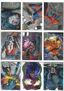 X MEN FLEER ULTRA 95 HUNTERS & STALKERS CARDS SILVER VERSION CHOOSE 1 TO 9 RARE