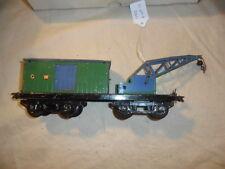 Hornby Meccano Series GW Breakdown Crane Wagon Tinplate O Gauge England