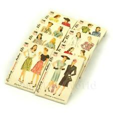 8 Maison de poupées miniature Simplicity PATRON ROBE paquets (dpps01)