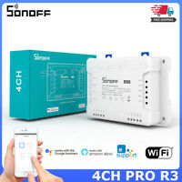 Sonoff 4CH PRO R3 Smart Home Wifi Switch 4 Gang 3 Working Mode Inching Interlock
