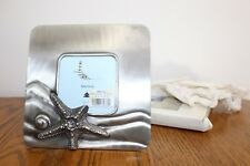 ~~~Nautical~Metal~3.5X3.5~Starfish~Sea Shell~Ocean~Picture Frame~NWT~Brand NEW~~