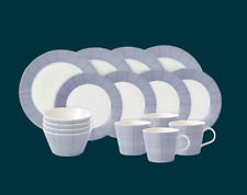 Royal Doulton Pacific Blue Dots 16 Piece Dinner Set