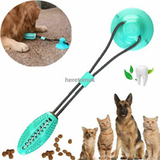 Pet Dog Puppy Bite Molar Toy Teether Exercise Floor Suction Cup Sucker