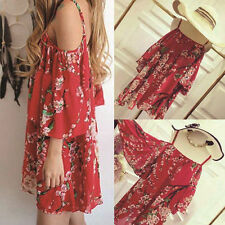 2016 Summer Party Beach Short Dress Evening Mini Women Cocktail Floral Casual