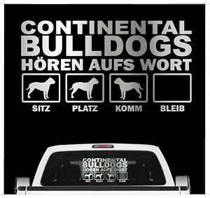 Continental Bulldog Conti Bully Hört aufs Wort Hunde Auto Aufkleber Autoaufklebe