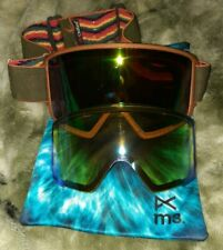 New listing Anon M3 Pro Snowboard Goggles, Rare Wood Style Frames + Extra Lens & Case