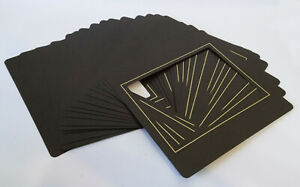 21x Traditional Photo Album 8 x 6 Overlays for Post Album - Brown Gold pinstripe