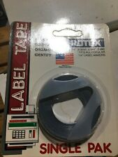 Rotex 14 Manual Embossed Label Maker Tape Black 144 New Old Stock