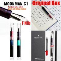 Moonman C1 Transparent Fountain Pen Eyedropper Converter Ink Pen Original Box
