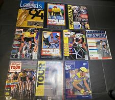 10x Retro 1990's British Cycle Race Programmes Kellogg's Tour, Leeds Classic Etc