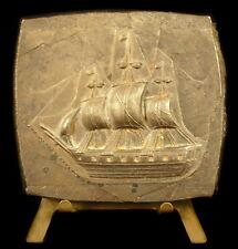 Medaglia prova,matrice barche a vela trois fregata di alberi barca a vela