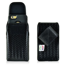 Basket Weave Real Leather Tactical Police Case fits LG K7 or Treasure