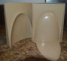 2 SETs Plastic BOOK ENDS GAYLORD MID CENTURY Modern  Retro Salvage Sale Demol