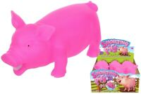 PIG HAND PUPPET SV14633 SILICONE PRETEND ROLE PLAY FARM YARD ANIMAL KIDS FUN