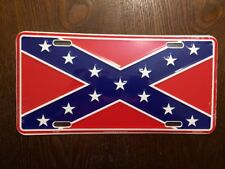 Confederate License Plate Full Size Aluminum Rebel Tag Dixie US Made