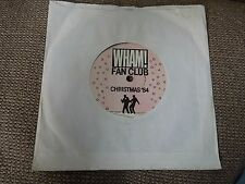 "Wham Fan Club Christmas 84 RARE 7"" Single"