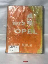 1972 Original Opel Gt Service Manual 72