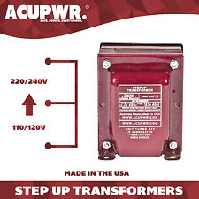 80 Watt ACUPWR Travel Step Up Voltage Transformer Converter - Made in the USA
