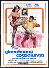 GIOVANNONA COSCIALUNGA MANIFESTO CINEMA FILM SEXY FENECH 1973 MOVIE POSTER 4F