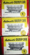 3 alte TRIX DUMP Car aus USA