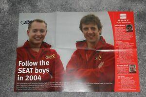 Rob Huff (WTCC, BTCC) SIGNED 2004 SEAT Toledo BTCC poster