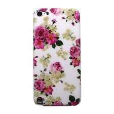 Pink Rose Floral Pattern Design Hard Case Cover for Apple iPod Touch 5 5th Gen