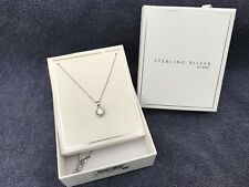 Sterling Silver Cushion Set Necklace